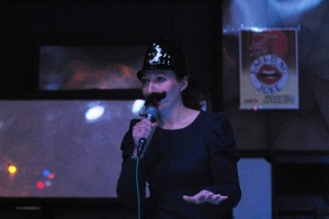 At the comedy night (photo Lewis Stainer)